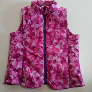 lei Camo Print Puffer Vest